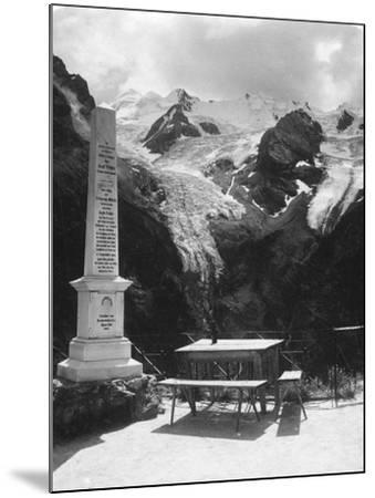 A Monument in Stilfserjoch Strasse, Weisse Knott, Tyrol, C1900s-Wurthle & Sons-Mounted Photographic Print