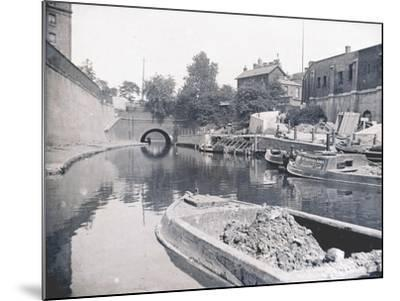 Unloading on the Grand Union Canal, London, C1905--Mounted Photographic Print
