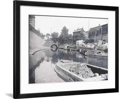 Unloading on the Grand Union Canal, London, C1905--Framed Photographic Print