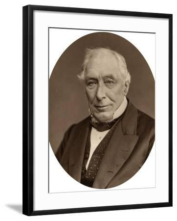 Sir John Mellor, Judge of the High Court of Justice, 1880-Lock & Whitfield-Framed Photographic Print