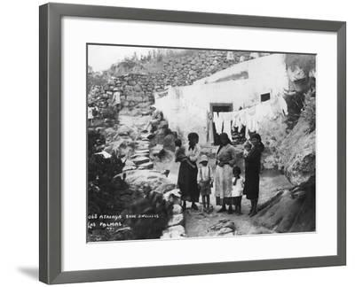 Cave Dwellers, Atalaya, Las Palmas, Gran Canaria, Canary Islands, Spain, C1920S-C1930S--Framed Photographic Print