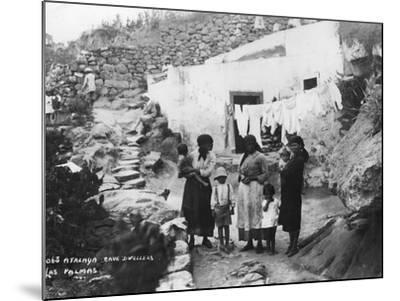 Cave Dwellers, Atalaya, Las Palmas, Gran Canaria, Canary Islands, Spain, C1920S-C1930S--Mounted Photographic Print