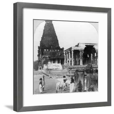 The Great Pagoda of Tanjore (Thanjavu), India, 1902-BL Singley-Framed Photographic Print
