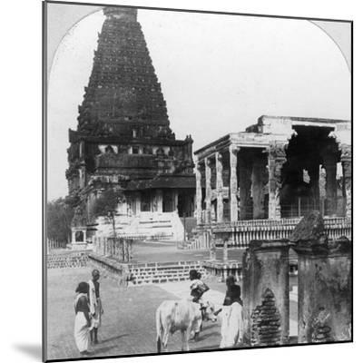 The Great Pagoda of Tanjore (Thanjavu), India, 1902-BL Singley-Mounted Photographic Print