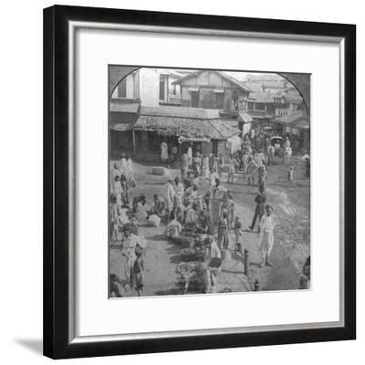 A Market in Ahmedabad, India, 1902-BL Singley-Framed Photographic Print
