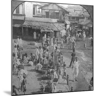 A Market in Ahmedabad, India, 1902-BL Singley-Mounted Photographic Print