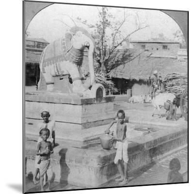 An Elephant Fountain, Madura, India, 1901-BL Singley-Mounted Photographic Print