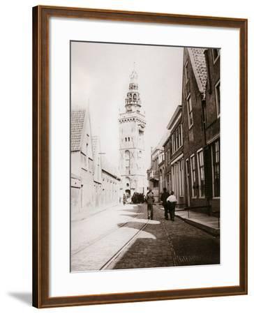 Street Scene, Monnickendam, Netherlands, 1898-James Batkin-Framed Photographic Print