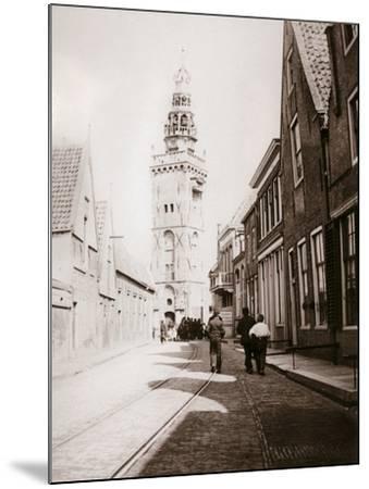 Street Scene, Monnickendam, Netherlands, 1898-James Batkin-Mounted Photographic Print