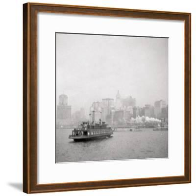 New York City from the River, USA, 20th Century-J Dearden Holmes-Framed Photographic Print