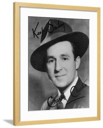 Charlie Chester, British Stand-Up Comedian and Tv and Radio Presenter, 20th Century-Montagu Watson-Framed Photographic Print