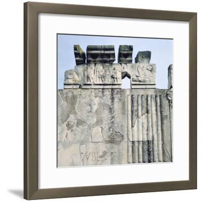 Monument to Cartilius Poplicola, Ostie, Rome- Lorenzini-Framed Photographic Print