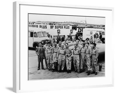 Donald Campbell and the Bluebird Team, Goodwood, 22nd July 1960--Framed Photographic Print