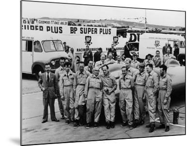 Donald Campbell and the Bluebird Team, Goodwood, 22nd July 1960--Mounted Photographic Print
