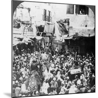 The Holy Carpet Parade with the Mahmal, Cairo, Egypt, 1905-Underwood & Underwood-Mounted Photographic Print