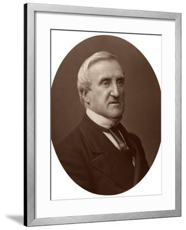 Vice-Chancellor Sir C Hall, Judge of the High Court of Justice, 1876-Lock & Whitfield-Framed Photographic Print
