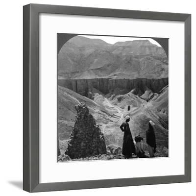 Valley of the Kings' Tombs at Thebes, Egypt, 1905-Underwood & Underwood-Framed Photographic Print