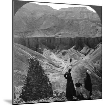 Valley of the Kings' Tombs at Thebes, Egypt, 1905-Underwood & Underwood-Mounted Photographic Print
