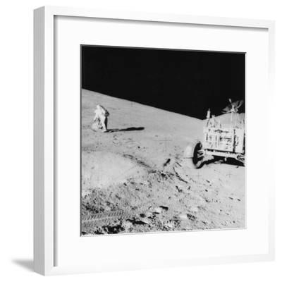 Astronaut David Scott (B193) on the Slope of Hadley Delta During Apollo 15, 1971--Framed Photographic Print