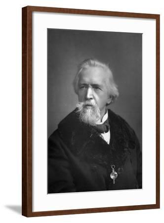 George Jacob Holyoake (1817-190), English Secularist, 1893-W&d Downey-Framed Photographic Print