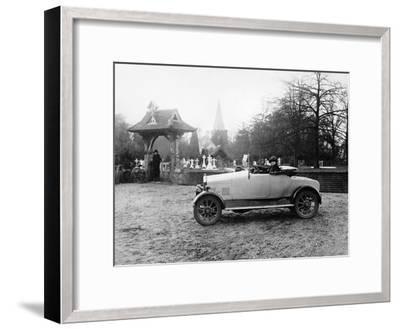 1922 11.9 Hp Calcott Outside a Church, (C1922)--Framed Photographic Print