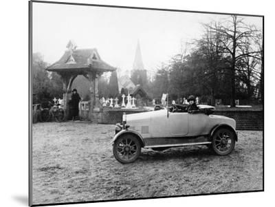 1922 11.9 Hp Calcott Outside a Church, (C1922)--Mounted Photographic Print
