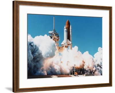 Launch of Space Shuttle Columbia from Kennedy Space Center, Florida, USA, 4 April 1997--Framed Photographic Print