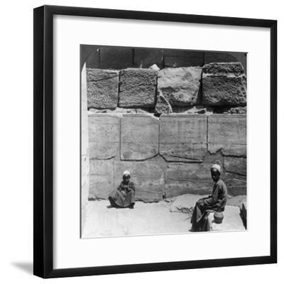 Plants and Animals Brought from Syria by the Pharaohs, Temple of Karnak, Egypt, 1905-Underwood & Underwood-Framed Photographic Print