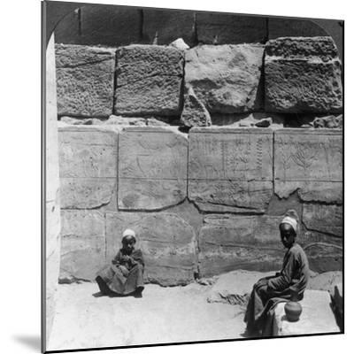 Plants and Animals Brought from Syria by the Pharaohs, Temple of Karnak, Egypt, 1905-Underwood & Underwood-Mounted Photographic Print