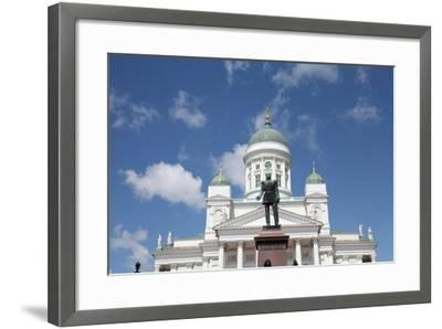Lutheran Cathedral and the Statue of Emperor Alexander II of Russia, Helsinki, Finland, 2011-Sheldon Marshall-Framed Photographic Print