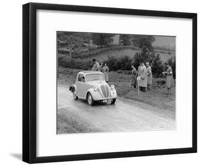 1937 Fiat 500 Coupe Competing in the Welsh Rally--Framed Photographic Print