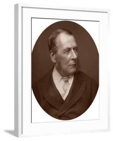 William Ballantine, Serjeant-At-Law, 1882-Lock & Whitfield-Framed Photographic Print