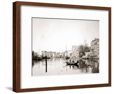 Boat on the Canal, Dordrecht, Netherlands, 1898-James Batkin-Framed Photographic Print
