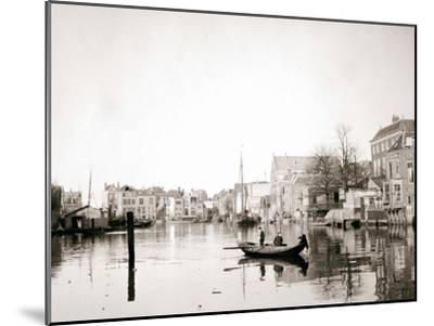 Boat on the Canal, Dordrecht, Netherlands, 1898-James Batkin-Mounted Photographic Print
