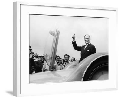 Donald Campbell with the Bluebird CN7 at the Goodwood Trials, July 1960--Framed Photographic Print