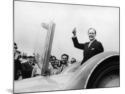 Donald Campbell with the Bluebird CN7 at the Goodwood Trials, July 1960--Mounted Photographic Print