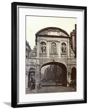 Temple Bar, London, 19th Century--Framed Photographic Print