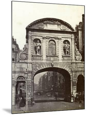 Temple Bar, London, 19th Century--Mounted Photographic Print
