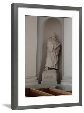 Statue of Martin Luther, Lutheran Cathedral, Helsinki, Finland, 2011-Sheldon Marshall-Framed Photographic Print