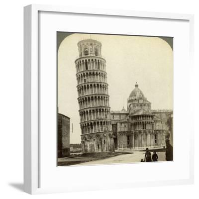 Cathedral and Leaning Tower of Pisa, Italy-Underwood & Underwood-Framed Photographic Print