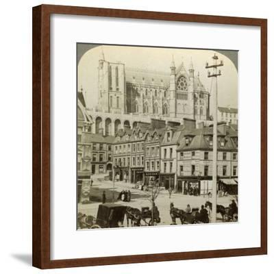 Cathedral and Main Street, Queenstown, Ireland, C Late 19th Century-Underwood & Underwood-Framed Photographic Print