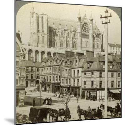 Cathedral and Main Street, Queenstown, Ireland, C Late 19th Century-Underwood & Underwood-Mounted Photographic Print