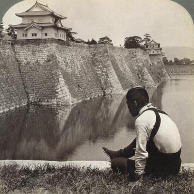 Feudal Castle of the Proud Shoguns, Osaka, Japan, 1904-Underwood & Underwood-Framed Photographic Print