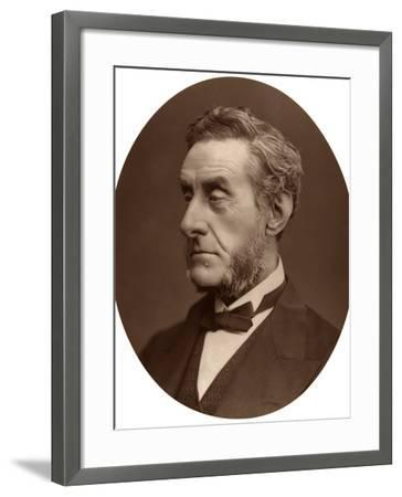 Anthony Ashley-Cooper, 7th Earl of Shaftesbury, British Politician and Philanthropist, 1876-Lock & Whitfield-Framed Photographic Print