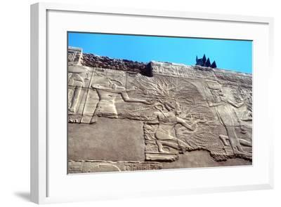 Rameses II and the Tree of Life, Karnak, Egypt, 13th Century Bc--Framed Photographic Print