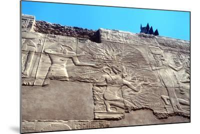 Rameses II and the Tree of Life, Karnak, Egypt, 13th Century Bc--Mounted Photographic Print