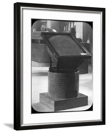 The Rosetta Stone, British Museum, London, C1890-Newton & Co-Framed Photographic Print