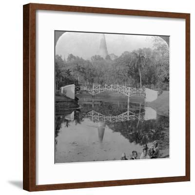 Fortress Gardens and the Shwedagon Pagoda, Rangoon, Burma, C1900s-Underwood & Underwood-Framed Photographic Print