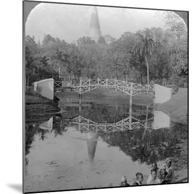Fortress Gardens and the Shwedagon Pagoda, Rangoon, Burma, C1900s-Underwood & Underwood-Mounted Photographic Print