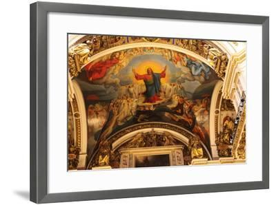 Ceiling, St Isaac's Cathedral, St Petersburg, Russia, 2011-Sheldon Marshall-Framed Photographic Print